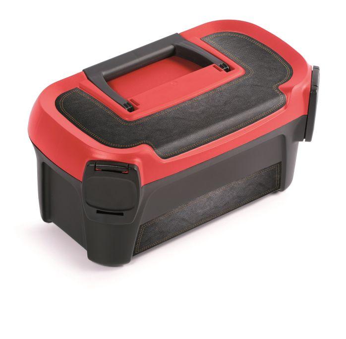 PROSPERPLAST Plastový kufr na nářadí LINE IML motiv kůže 328x178x160