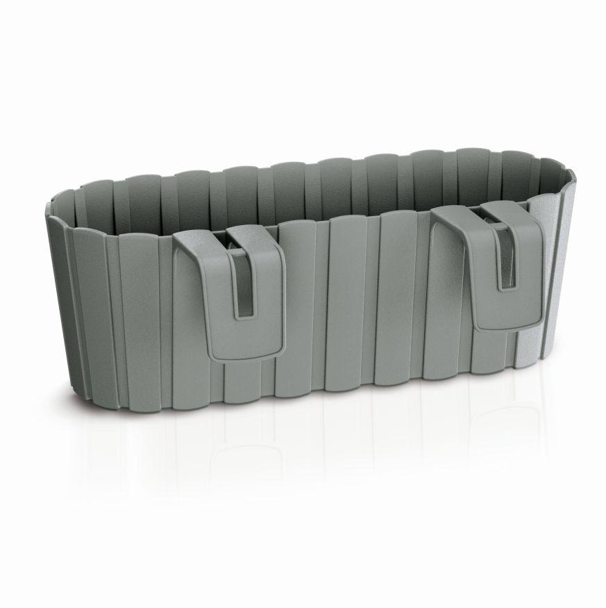 PROSPERPLAST Truhlík závěsný BOARDEE HOOK šedý kámen 38,3cm