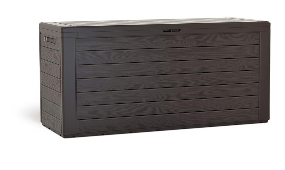 PROSPERPLAST Zahradní box WOODEBOX umbra 116 cm - 280L