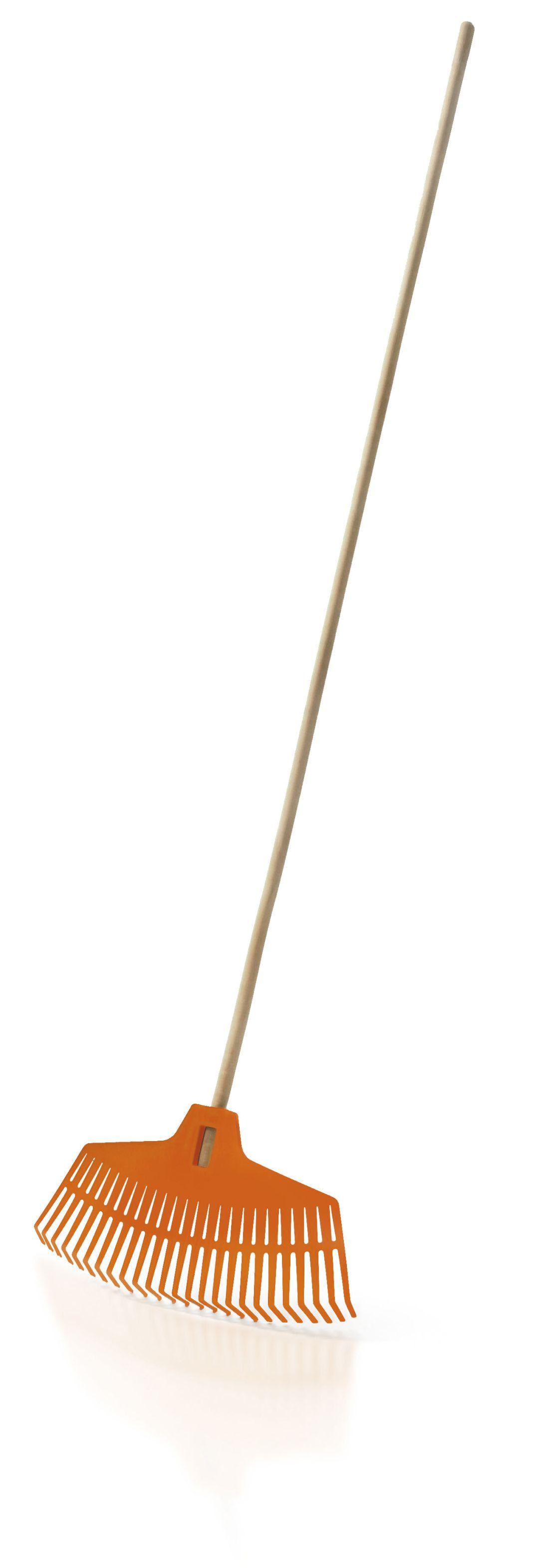 PROSPERPLAST Hrábě FOCUS oranžové, dřevěná násada 165cm