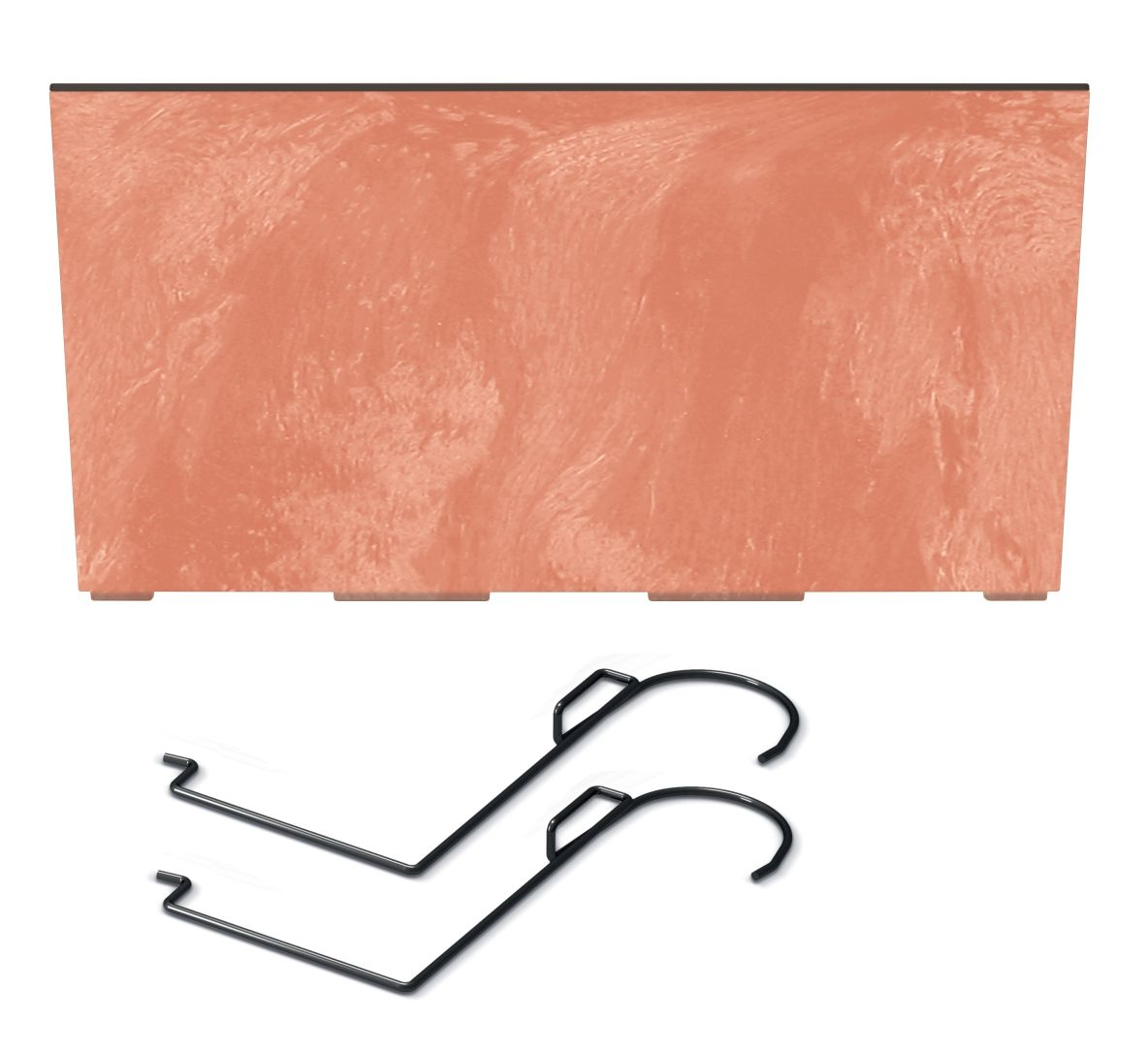 PROSPERPLAST Truhlík s háky URBI CASE BETON EFFECT W terakota 58cm