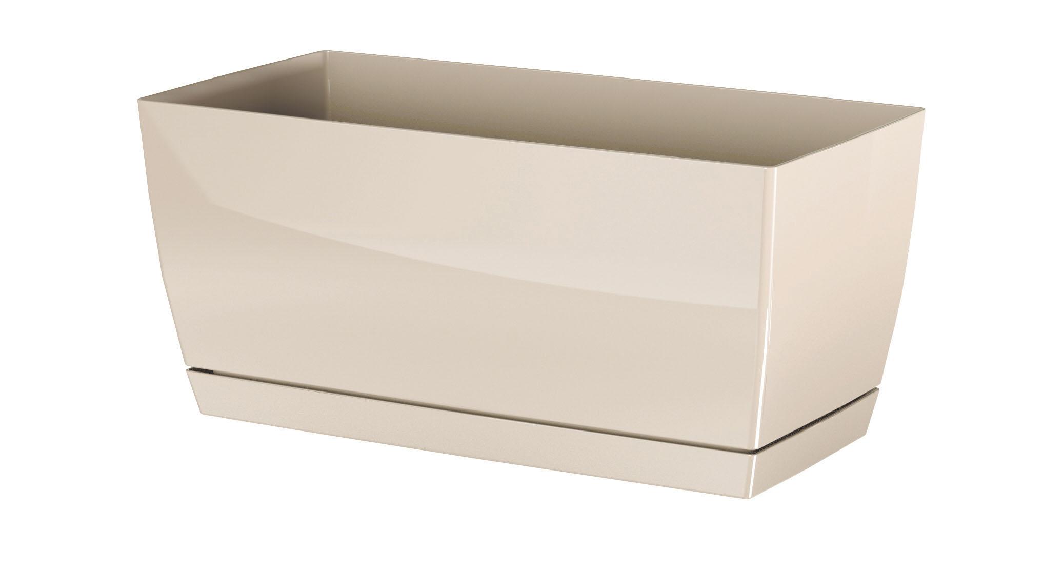 PROSPERPLAST Truhlík COUBI CASE P s miskou krémový 24cm