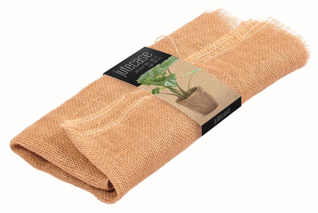 PROSPERPLAST Dekorativní jutová tkanina YUTA do koše Uniqubo 100x100cm