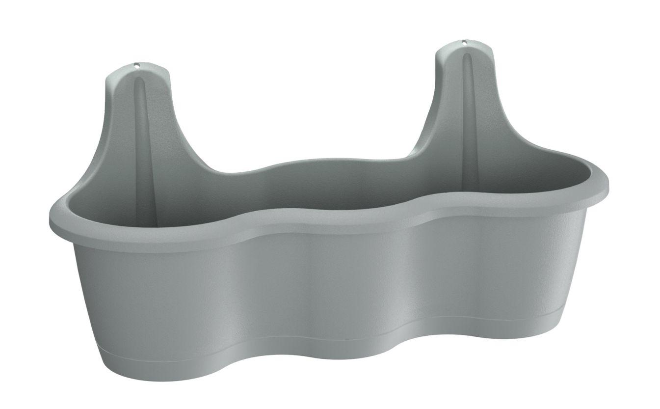 PROSPERPLAST Truhlík závěsný RESPANA HOOK šedý kámen  51,9 cm