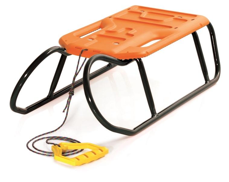 PROSPERPLAST Sáňky LITTLE BEETLE s oranžovým sedátkem