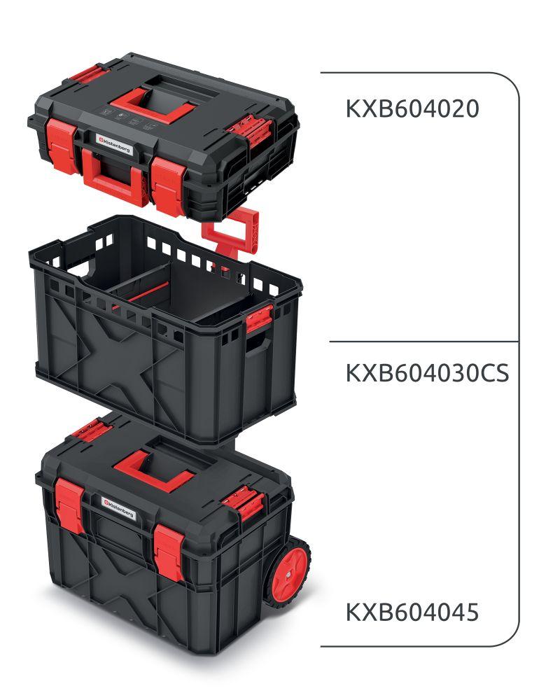 PROSPERPLAST Set kufrů na nářadí a organizéru X BLOCK PRO 546x380x970
