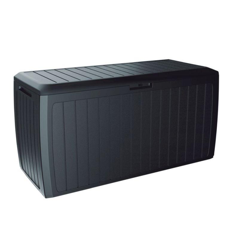 PROSPERPLAST Zahradní box BOXE BOARD antracit 116cm - 290L