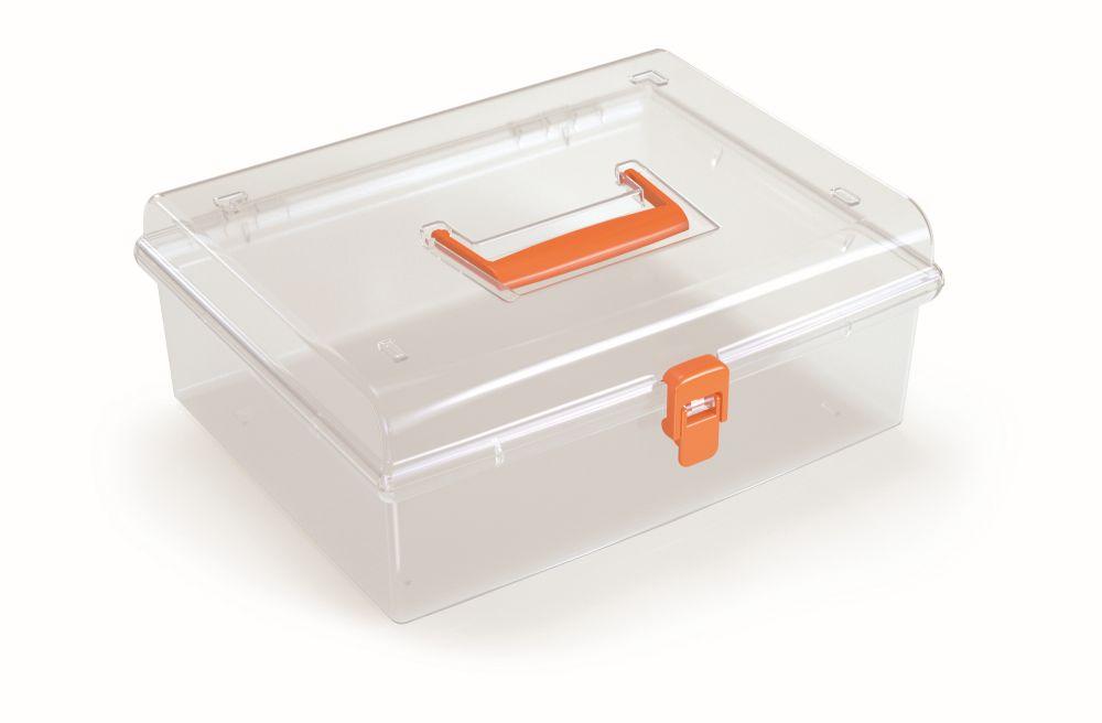 PROSPERPLAST Plastový organizér NUF LOW 292x250x116 oranžový