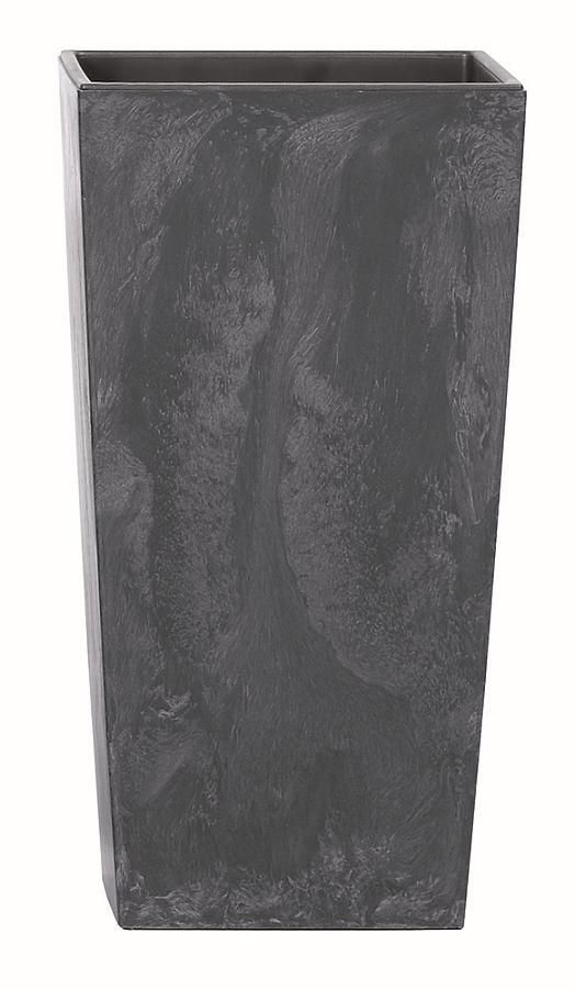 PROSPERPLAST Květináč URBI SQUARE BETON EFFECT antracit 12,6 cm
