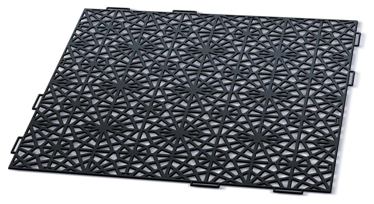 PROSPERPLAST Dlaždice zahradní MOSAIC černá 39,7x39,7cm