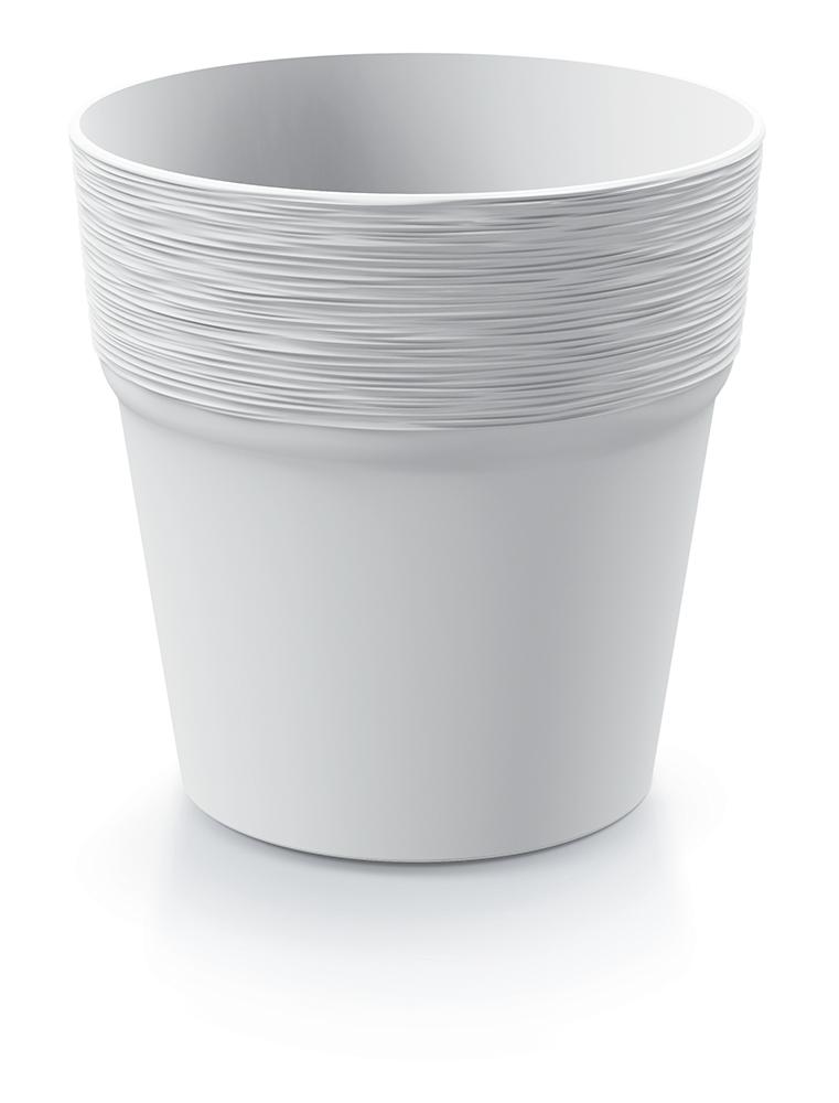 PROSPERPLAST Květináč FURU bílý 12cm