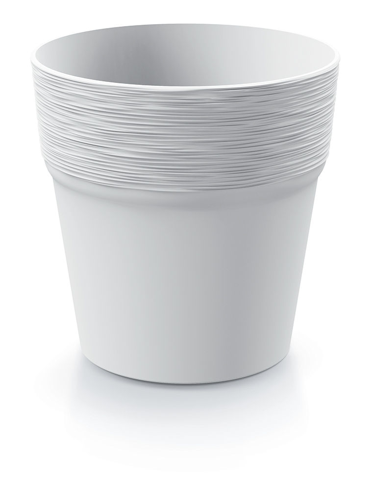 PROSPERPLAST Květináč FURU bílý 17,5cm
