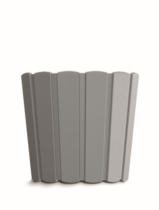 PROSPERPLAST Květináč BOARDEE BASIC šedý kámen 14,4cm