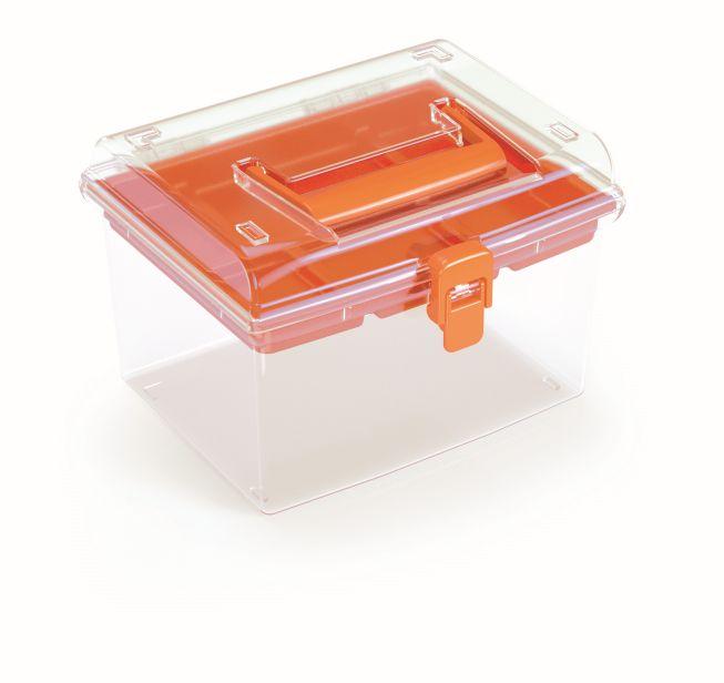 PROSPERPLAST Plastový organizér NUF HIGH 195x174x135 oranžový