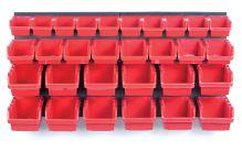 Závěsný panel s 30 boxy na nářadí ORDERLINE 800x165x400