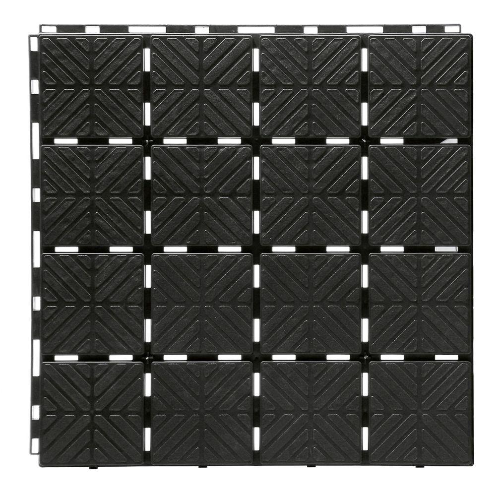 PROSPERPLAST Dlaždice zahradní EASY SQUARE černá 40x40cm - 1,5m2