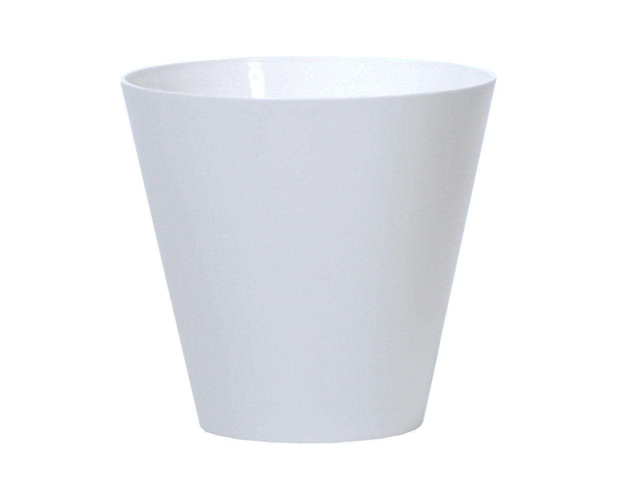PROSPERPLAST Květináč TUBUS bílý 30,0cm
