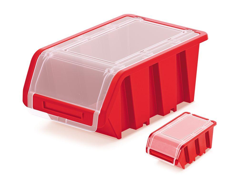 PROSPERPLAST Plastový úložný box uzavíratelný TRUCK PLUS 230x160x120 červený