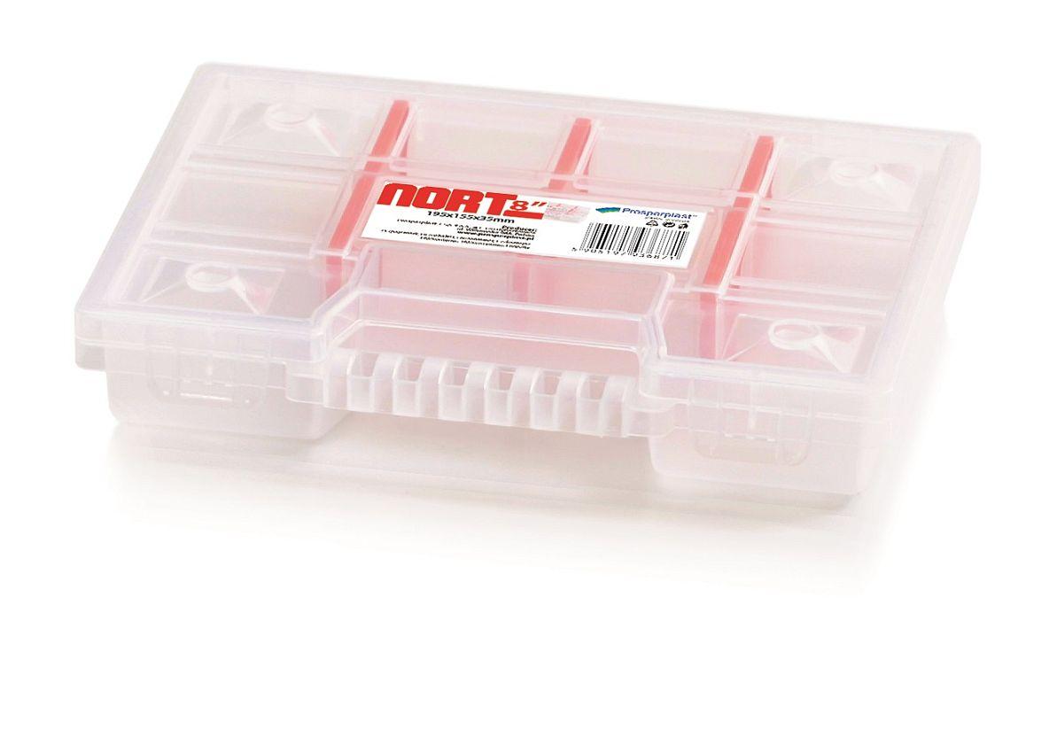 PROSPERPLAST Plastový organizér 10 přihrádek NORT 195x155x35 červený