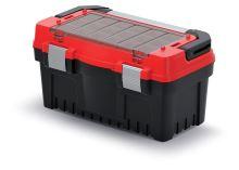 Kufr na nářadí s kov. držadlem a zámky EVO červený (krabičky)