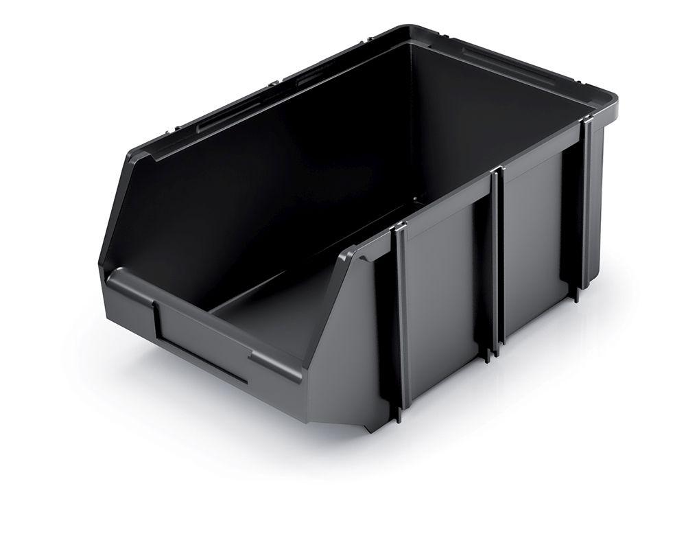 PROSPERPLAST Plastový úložný box CLICK BOX 225x140x95 černý
