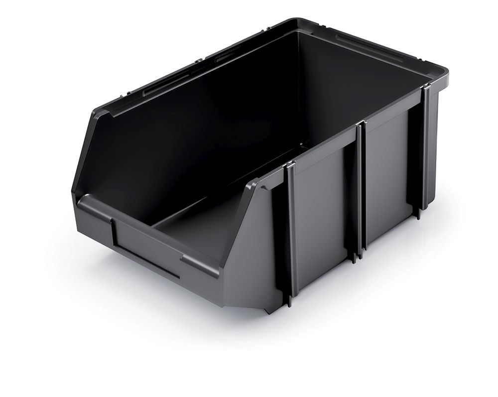 PROSPERPLAST Plastový úložný box CLICK BOX 360x240x160 černý