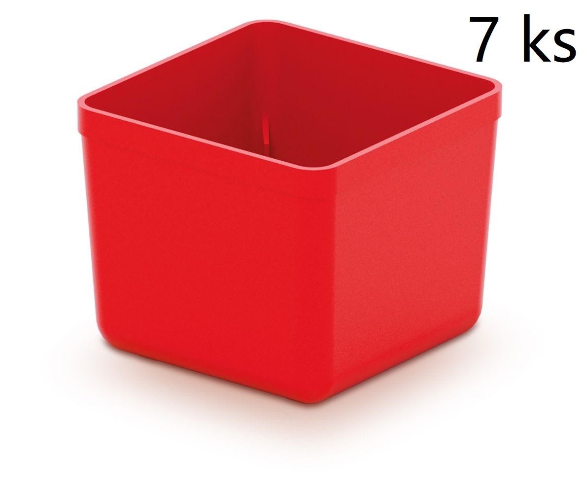 PROSPERPLAST Sada 7 plastových boxů na nářadí UNITE BOX 55x55x165 červené