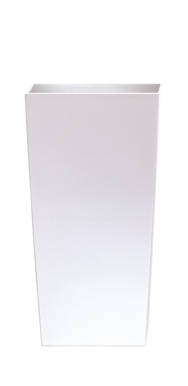 PROSPERPLAST Květináč URBI SQUARE MATT bílý 12,6cm