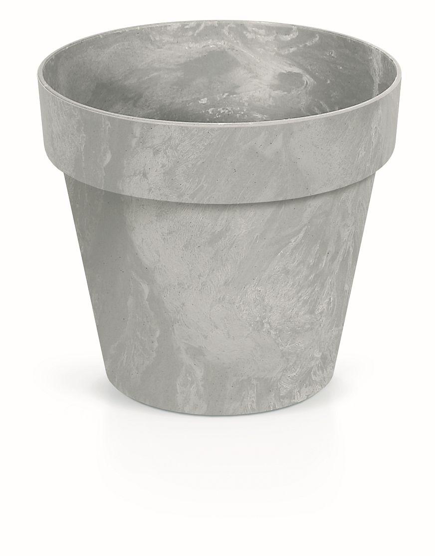 PROSPERPLAST Květináč CUBE BETON EFFECT šedý 25cm