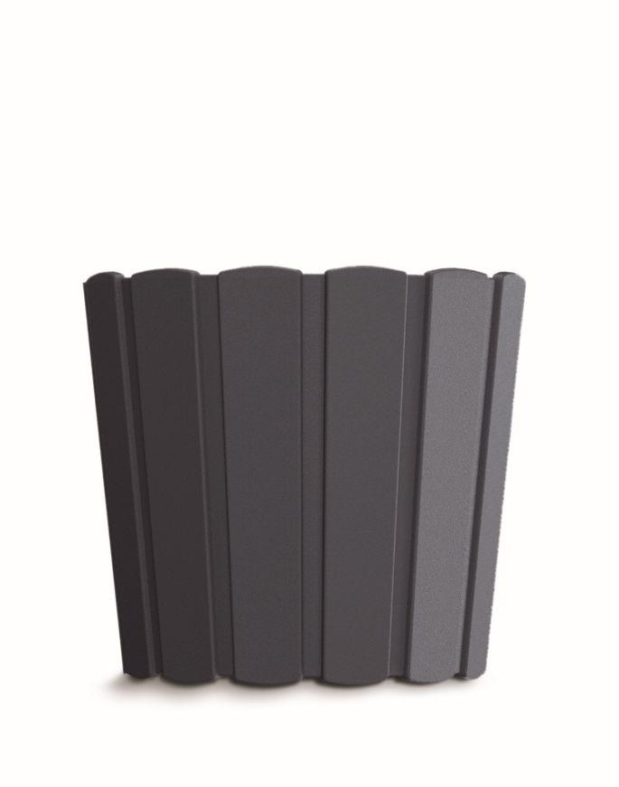 PROSPERPLAST Květináč BOARDEE BASIC antracit 19,9cm
