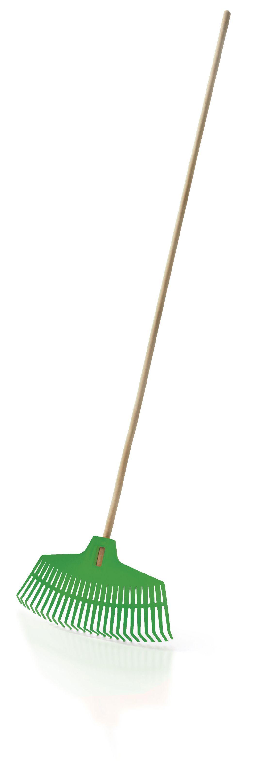 PROSPERPLAST Hrábě FOCUS zelené, dřevěná násada 165cm