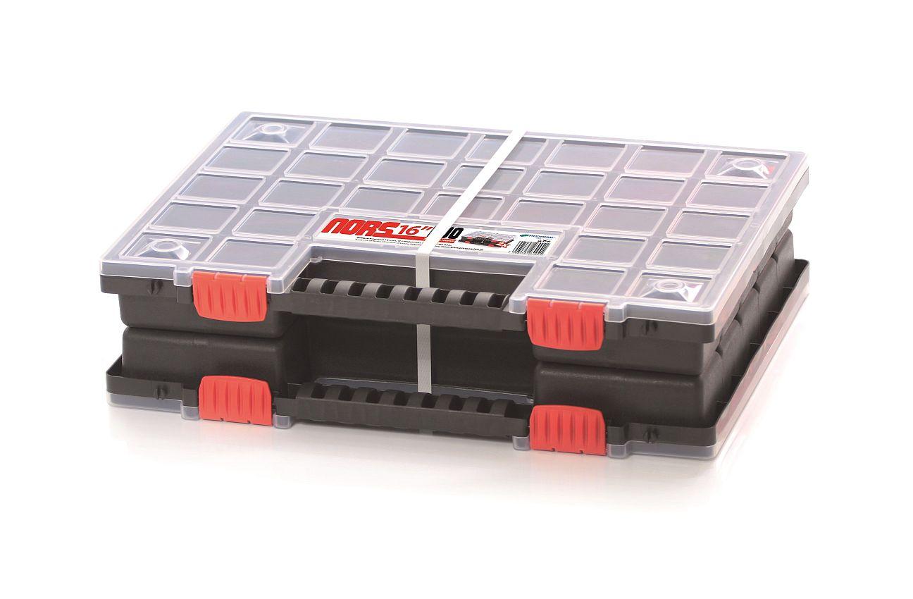 PROSPERPLAST Plastový organizér NORDUO S (2x NORS16) 399x303x100 červený