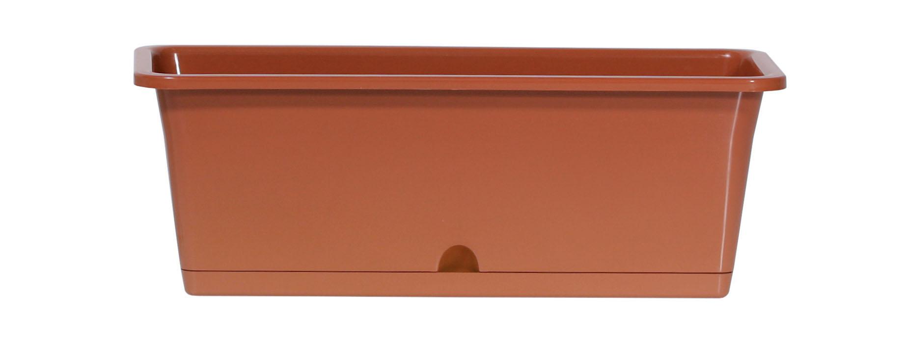 PROSPERPLAST Truhlík CAMELIA terakota 40,2cm