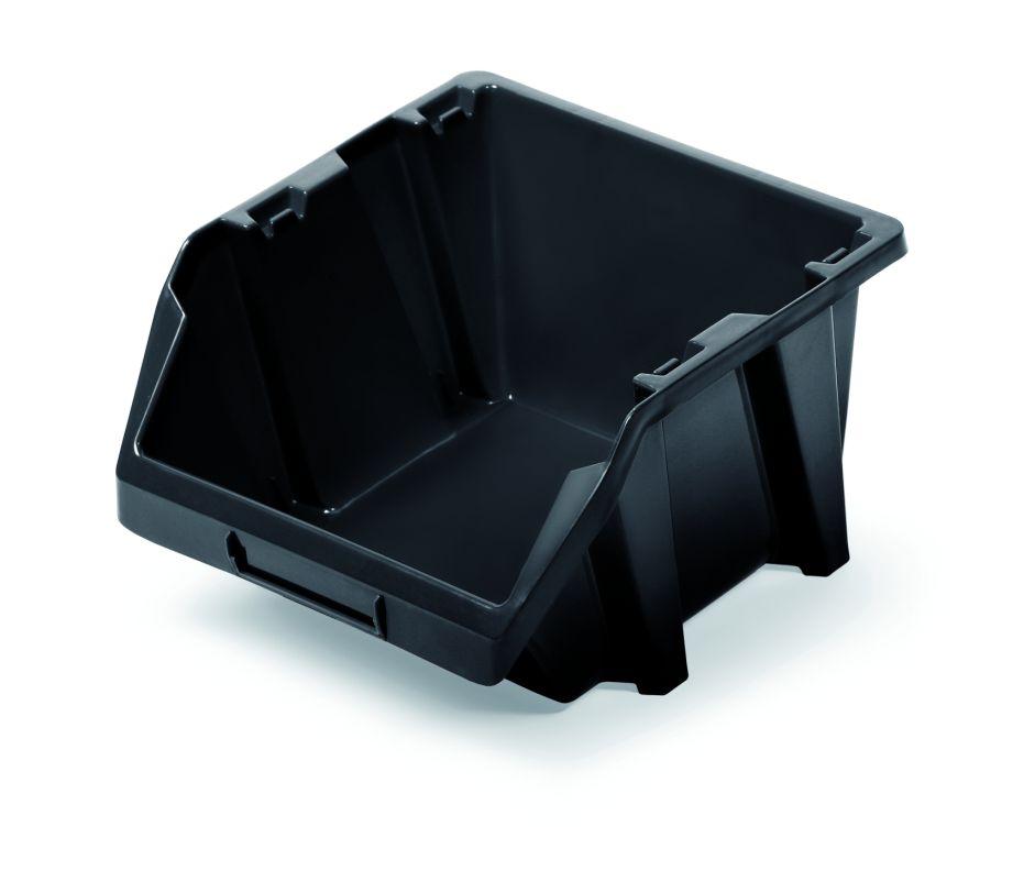 PROSPERPLAST Plastový úložný box BINEER SHORT 144x118x84 černý