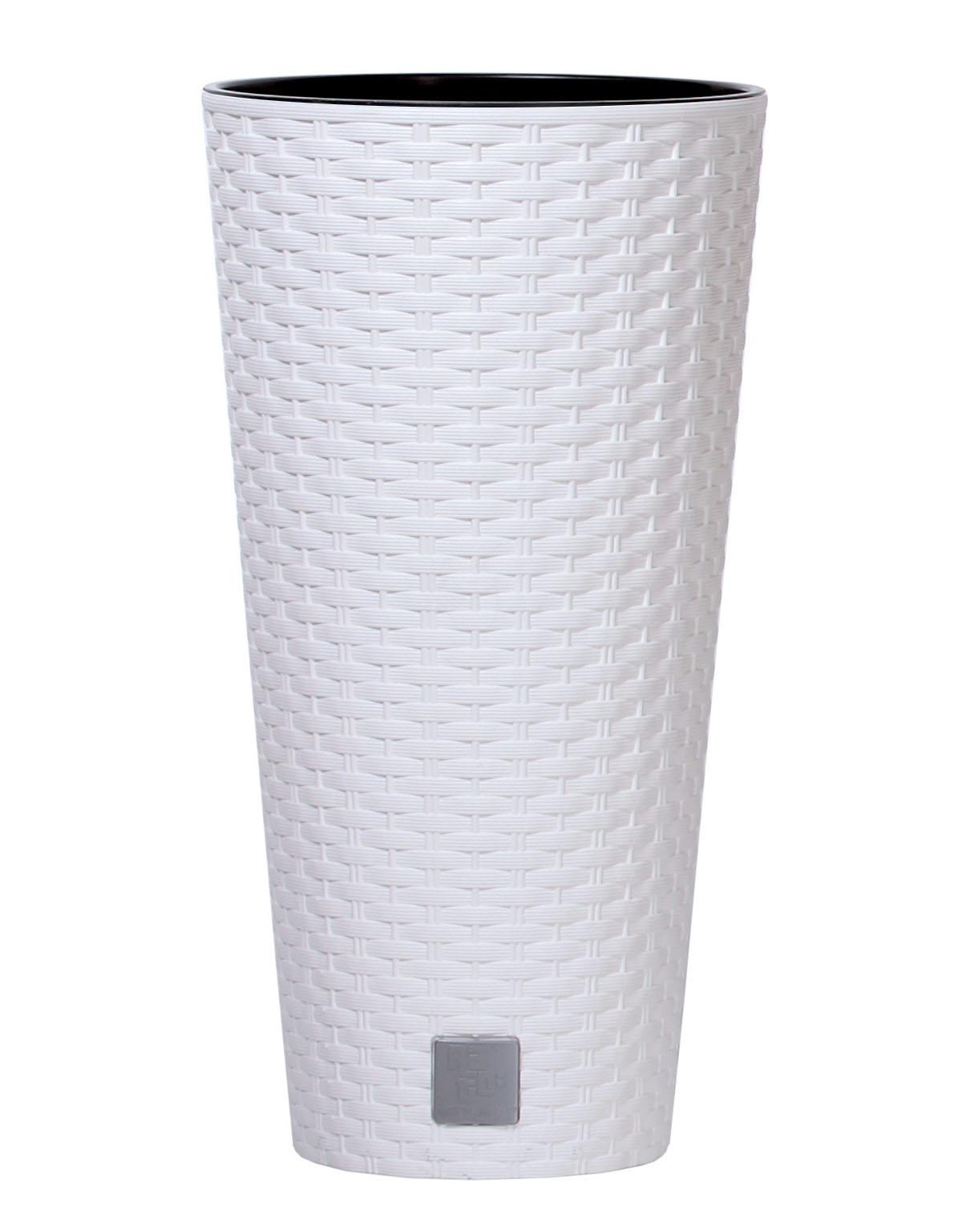 PROSPERPLAST Květináč RATO TUBUS + vklad bílý 40cm