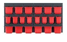 Závěsný panel s 20 boxy na nářadí ORDERLINE 800x165x400