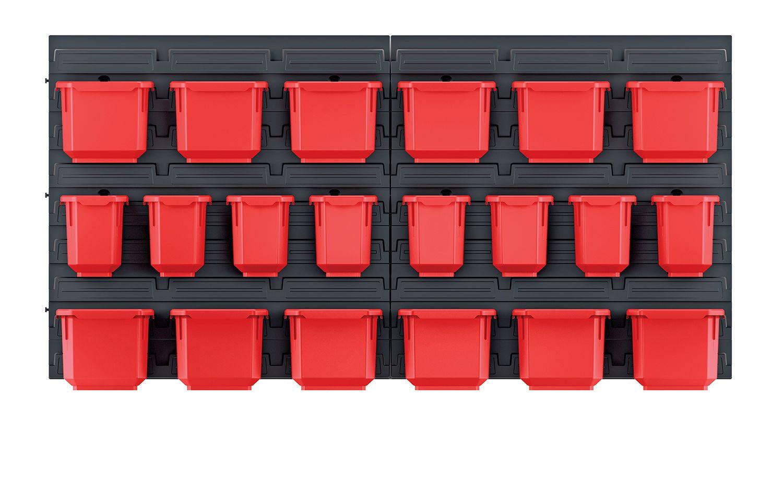 PROSPERPLAST Závěsný panel s 20 boxy na nářadí ORDERLINE 800x165x400