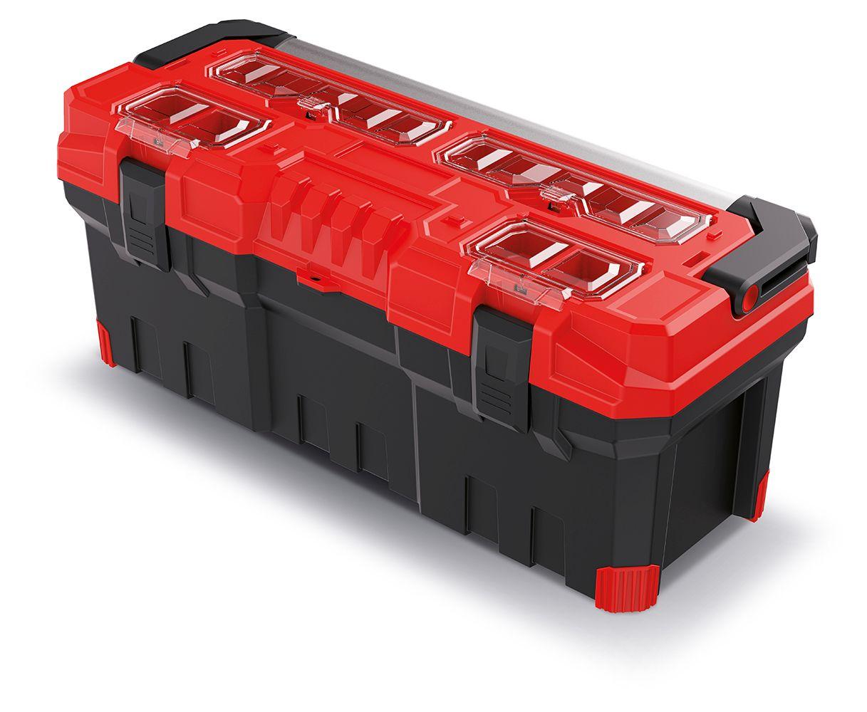 PROSPERPLAST Kufr na nářadí s kov. držadlem TITAN PLUS červený 752x300x304