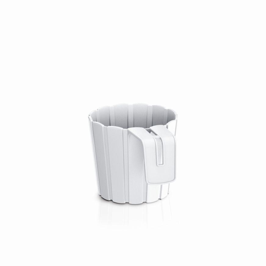 PROSPERPLAST Květináč závěsný BOARDEE HOOK bílý 14,4cm