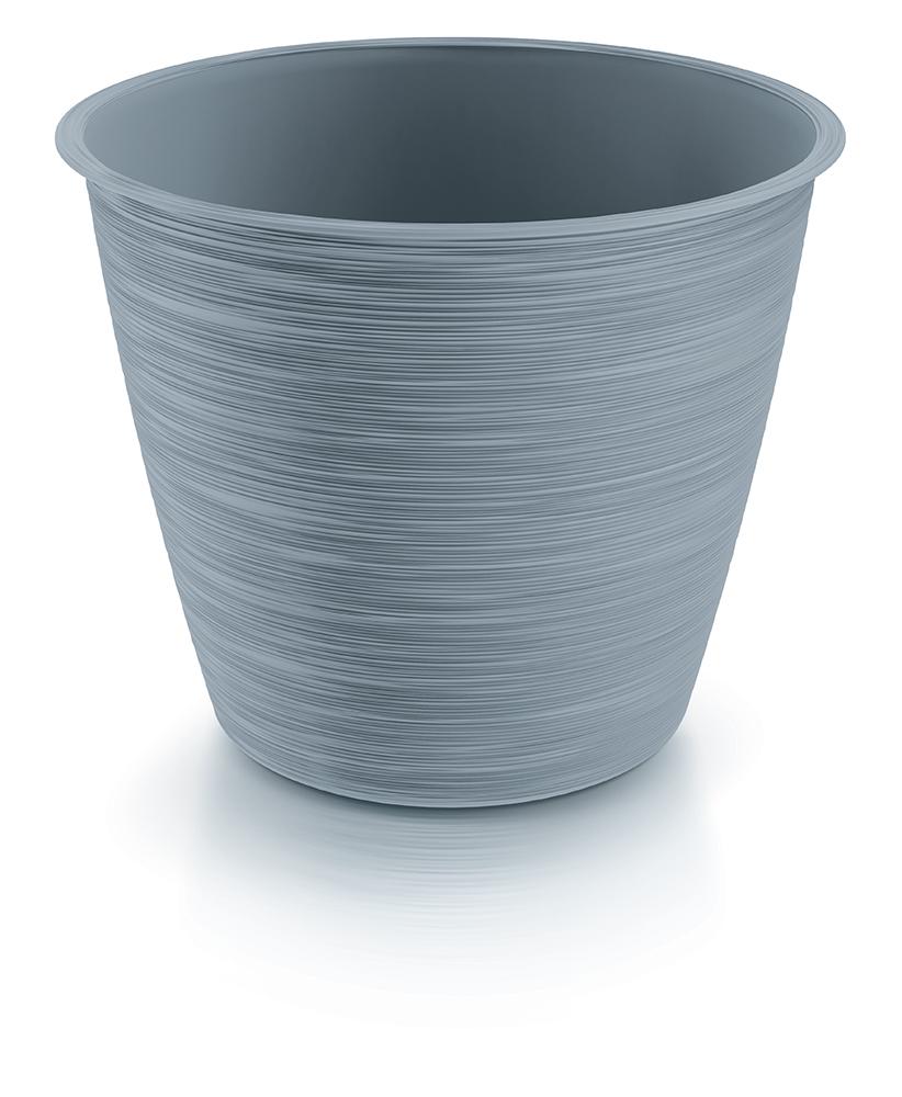 PROSPERPLAST Květináč FURU světle šedý 14,7cm