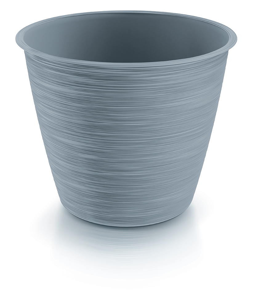 PROSPERPLAST Květináč FURU světle šedý 19,5cm