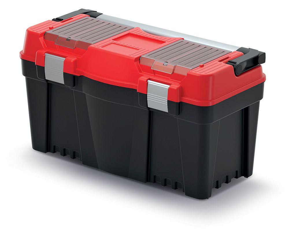 PROSPERPLAST Plastový kufr na nářadí APTOP PLUS červený 598x286x327