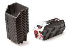 Set úložných boxů 16ks BINEER SHORT SET 234x77x92 černý