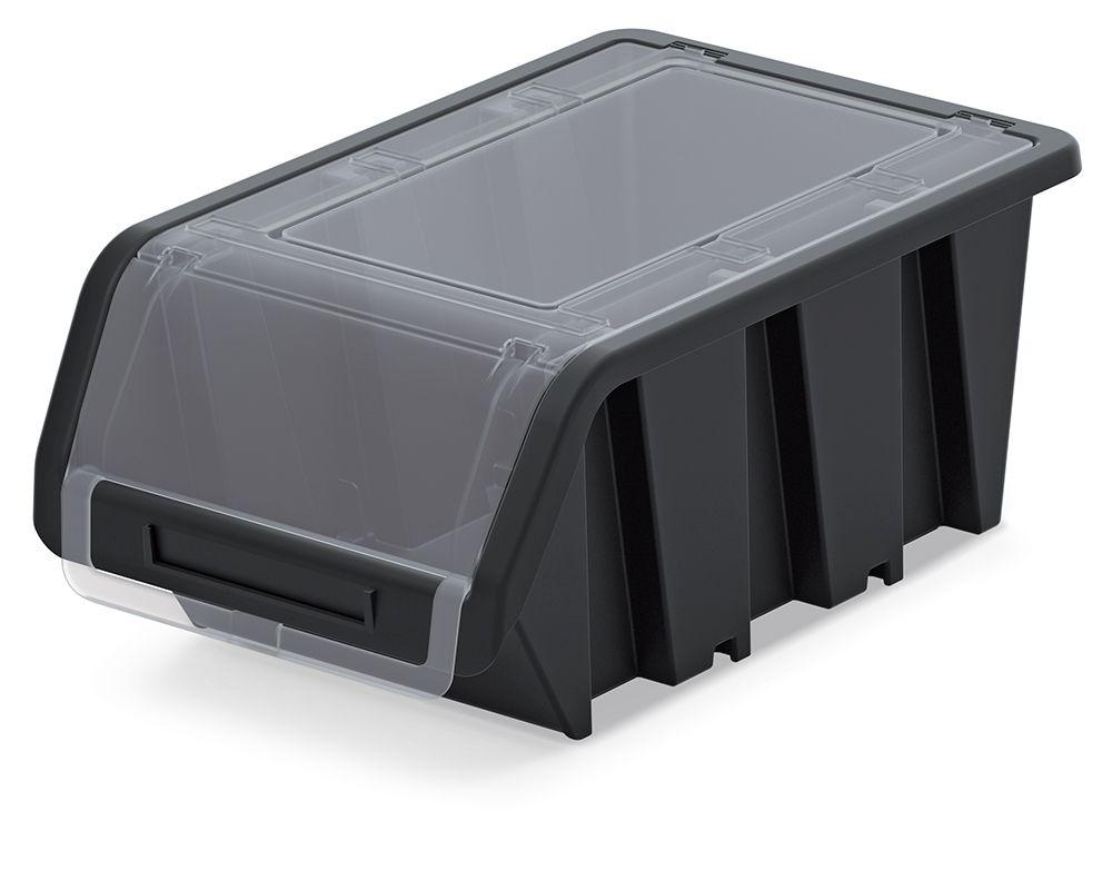 PROSPERPLAST Plastový úložný box uzavíratelný TRUCK PLUS 230x160x120 černý