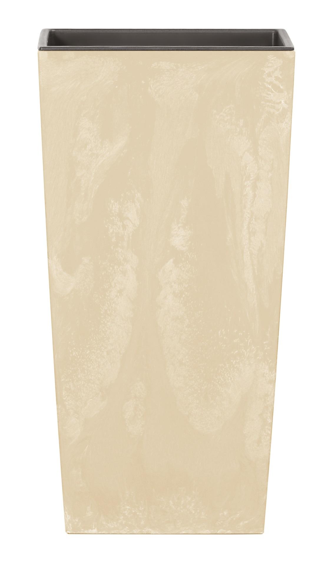 PROSPERPLAST Květináč URBI SQUARE BETON EFFECT pískový 12,6 cm