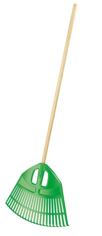 PROSPERPLAST Hrábě EXPERT zelené, dřevěná násada 182cm