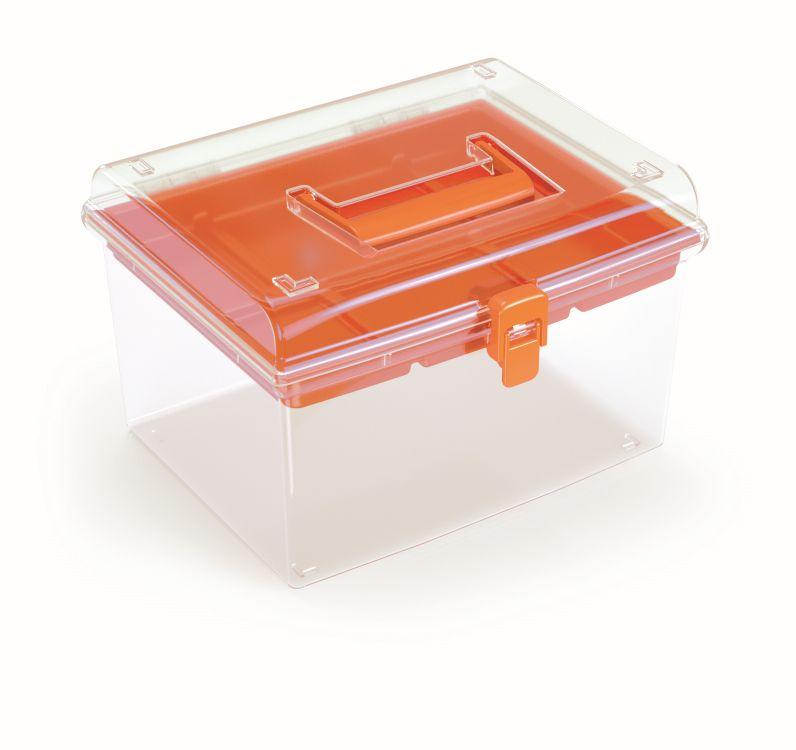 PROSPERPLAST Plastový organizér NUF HIGH 245x214x158 oranžový