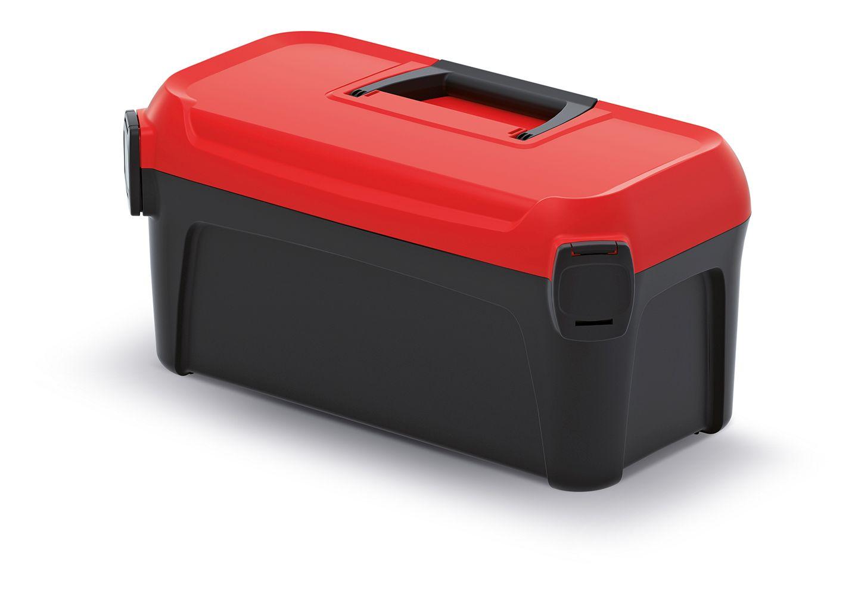 PROSPERPLAST Kufr na nářadí SMART s červeným víkem 380x234x225