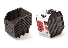 Set plastových úložných boxů 8ks BINEER LONG SET 160x98x160 černý