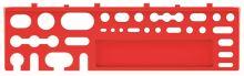 Sada držáků na nářadí BINEER SHELFS 384x111mm, červená, 2 ks